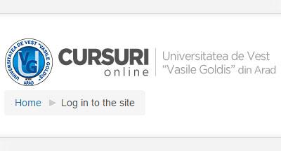 Platforma e-learning UVVG Arad