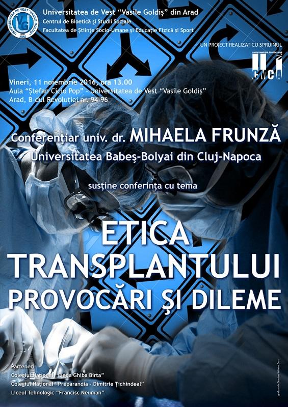 Etica transplantului Provacari si dileme
