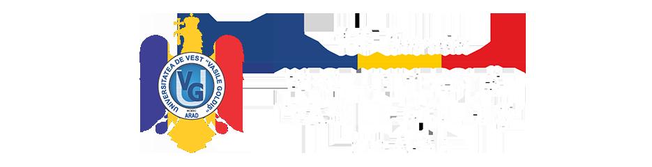 """Universitatea de Vest """"Vasile Goldiş"""" din Arad Logo"""